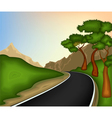 Road and nature background vector image vector image