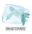 save sea earth ecological environmental pollution vector image