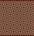 seamless - brown beige tile pattern vector image vector image