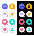 set a social media vector image vector image