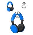 Set of headphones or earphones vector image