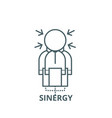 sinergy line icon linear concept outline vector image