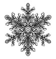 snowflake christmas new year sketch doodle vector image