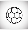 soccer ball thin line on white background vector image vector image
