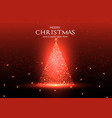 sparkling christmas tree background vector image vector image