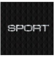 sport text polygon black background image vector image vector image