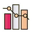 statistics bar diagram increase report business vector image vector image