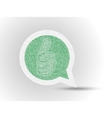 STICKER GRASS COMICS LABEL ETIQUETTE 9 vector image