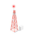 telecommunication tower icon vector image