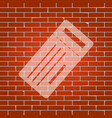 ticket simple sign whitish icon on brick vector image vector image