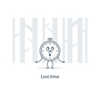 Time has gone lost opportunities concept vector image
