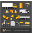 transportation elements vector image vector image
