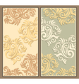 Two decorative backgrounds in pastel colors vector image vector image