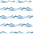 Undulating waves seamless background pattern vector image vector image