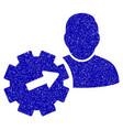 user integration api gear icon grunge watermark vector image vector image