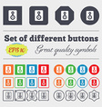 Video Tape icon sign Big set of colorful diverse vector image vector image