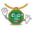 waving peridot jewelry in a cartoon box vector image vector image