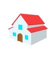 White two-storey house cartoon icon vector image vector image