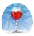wine glass polygonal vector image