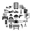wrench icons set simple style vector image vector image