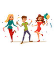 young teens dancing at party vector image
