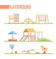 set of playground elements - modern cartoon