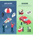 car dealership leasing vertical banner set vector image