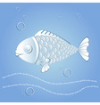 Paper fish vector image