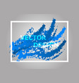 abstract background with blue gradient vector image vector image