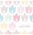 Abstract textile geometric tulips colorful frame vector image vector image