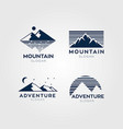 adventure mountain logo symbol vector image vector image