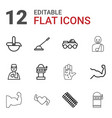 arm icons vector image vector image