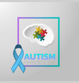 autism awareness day icon design medical logo vector image vector image