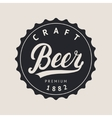 beer logo lettering for logotype label badge vector image vector image