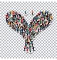 bird isometrick people 3d vector image