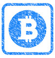 bitcoin coin framed stamp vector image vector image