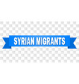 blue tape with syrian migrants caption vector image