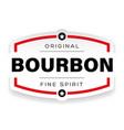 bourbon vintage label sign vector image