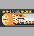 building of underground tunnels vector image vector image