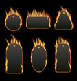 burning shopping price tag sale - isolated black vector image vector image