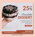 chocolatte dessert social media post design vector image vector image