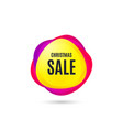 christmas sale special offer price sign vector image vector image