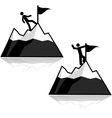 Climbing icons vector image vector image