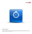 clock icon - 3d blue button vector image vector image