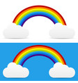clouds with rainbow vector image