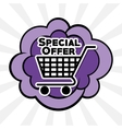 Colorful design of Special Offer vector image vector image