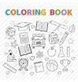 coloring bookEducation vector image vector image