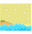 Cute Beach Background vector image