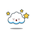 cute cloud kawaii face design vector image vector image