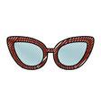 cute scribble glasses cartoon vector image vector image